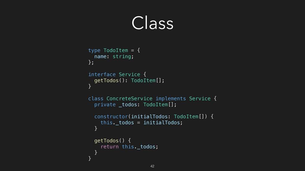 Class type TodoItem = { name: string; }; interf...