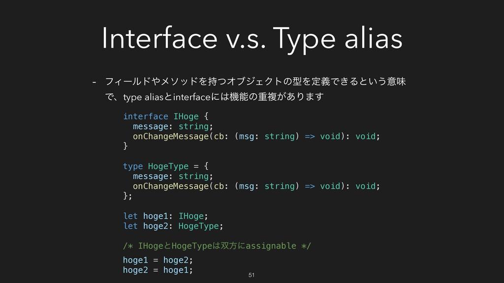 Interface v.s. Type alias - ϑΟʔϧυϝιουΛͭΦϒδΣΫτ...
