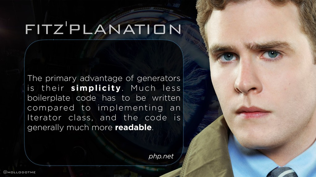 FITZ'PLANATION The primary advantage of generat...