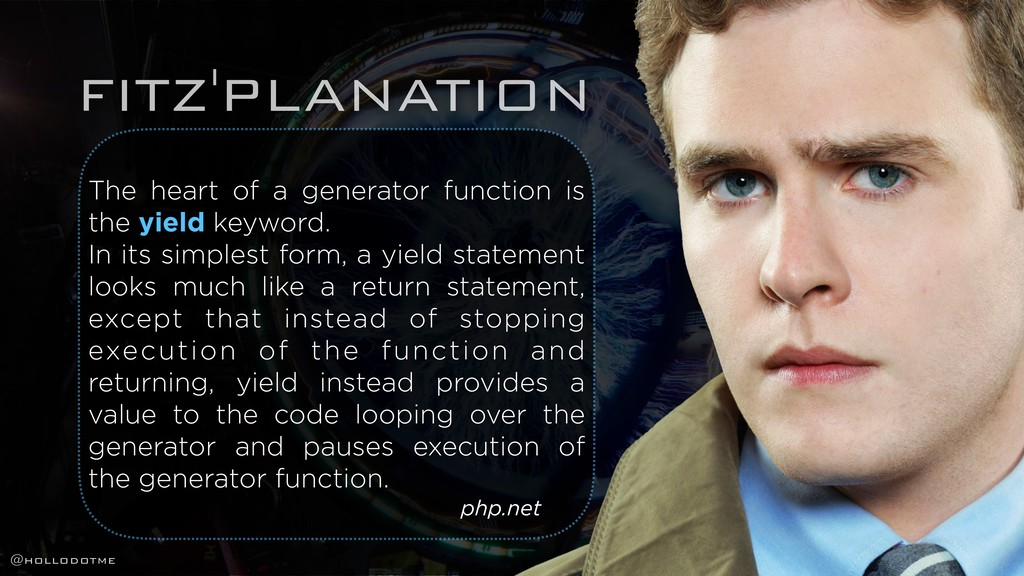 FITZ'PLANATION The heart of a generator functio...