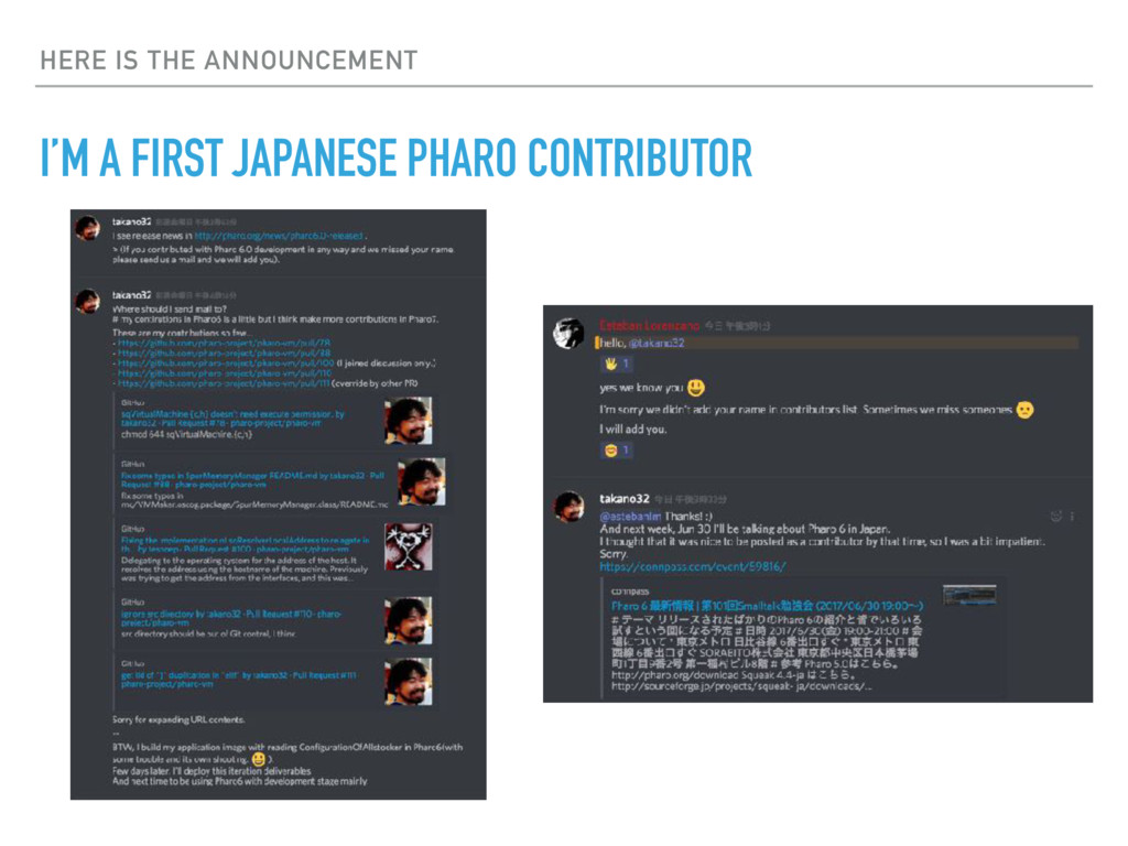 HERE IS THE ANNOUNCEMENT I'M A FIRST JAPANESE P...