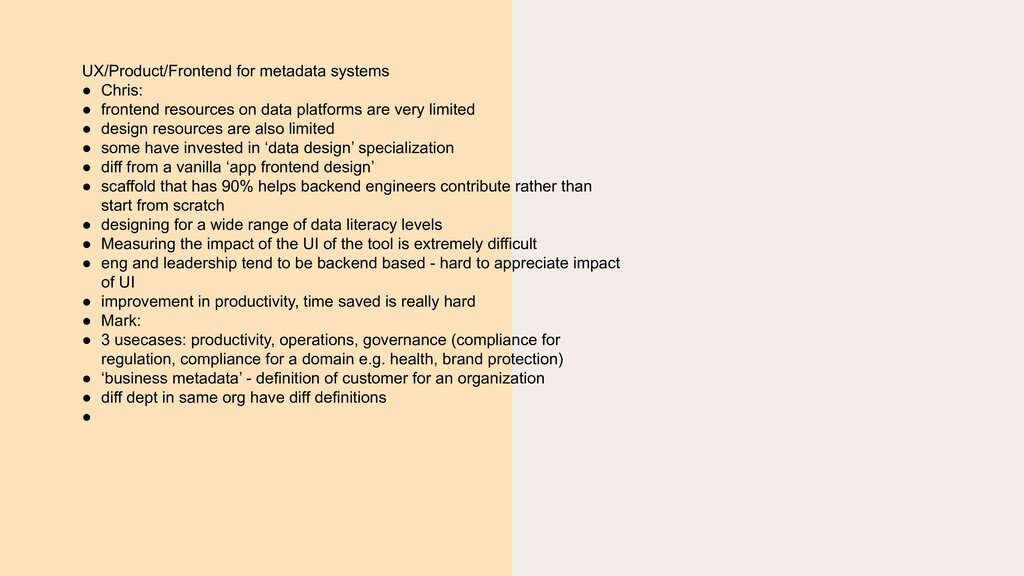 UX/Product/Frontend for metadata systems ● Chri...