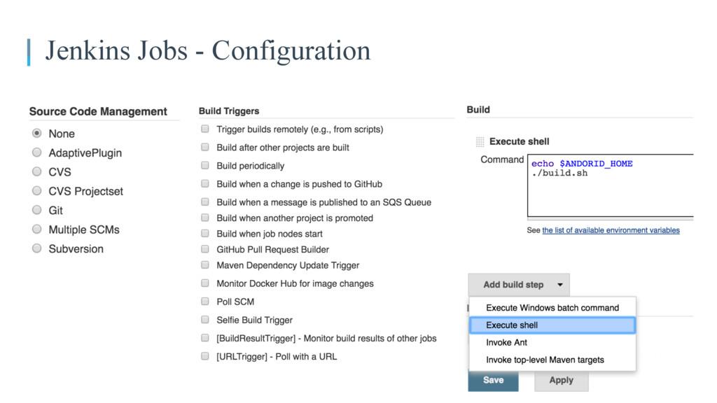 Jenkins Jobs - Configuration
