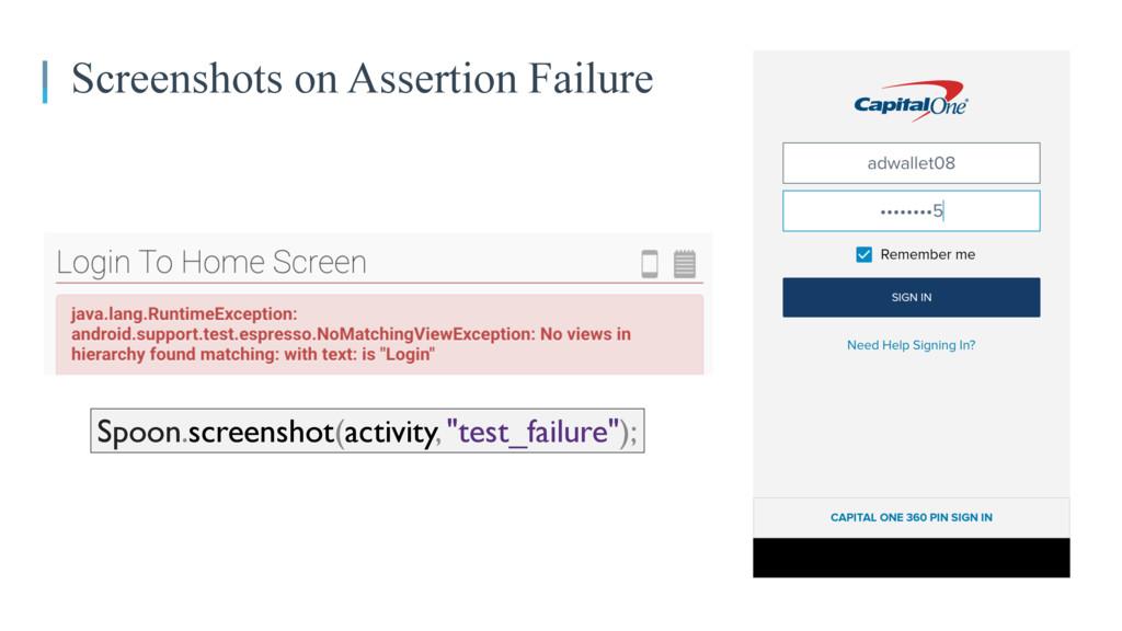 Screenshots on Assertion Failure Spoon.screensh...
