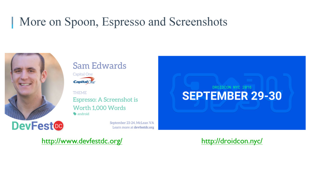 More on Spoon, Espresso and Screenshots http://...