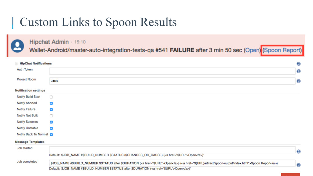 Custom Links to Spoon Results