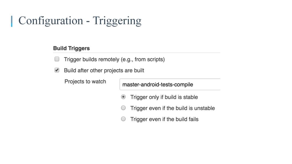 Configuration - Triggering