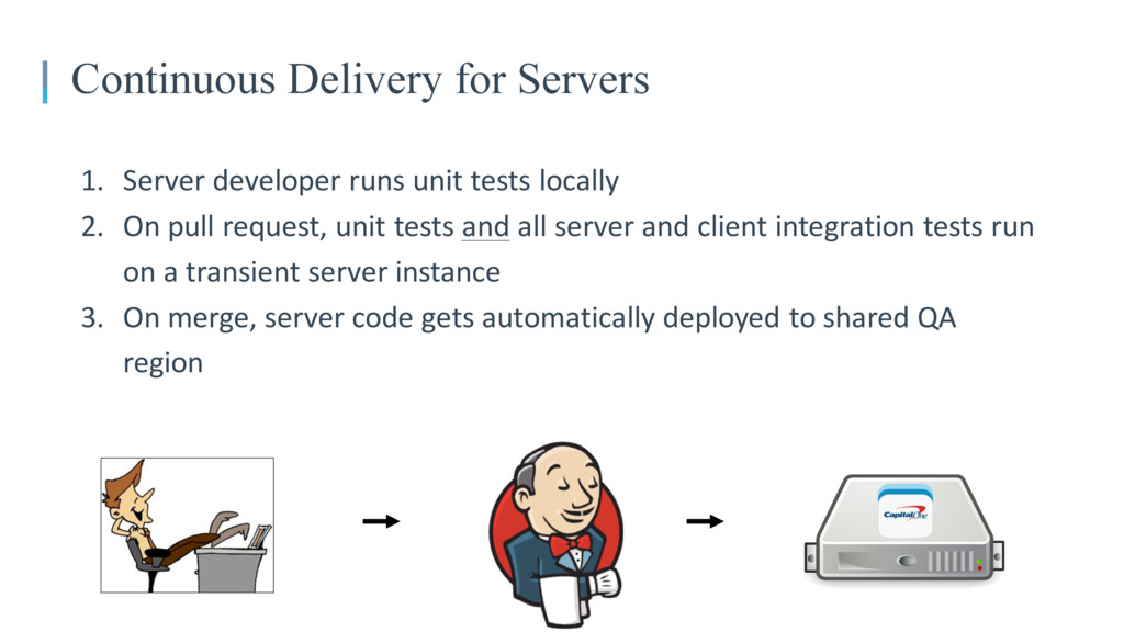 Continuous Delivery for Servers 1. Server devel...