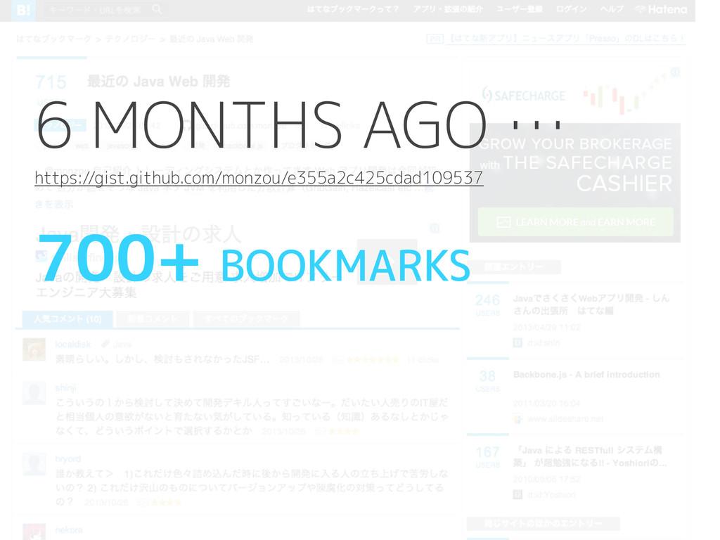 700+ BOOKMARKS 6 MONTHS AGO … https://gist.gith...