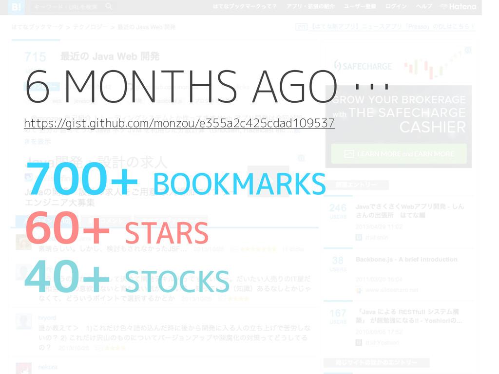 700+ BOOKMARKS 60+ STARS 40+ STOCKS 6 MONTHS AG...