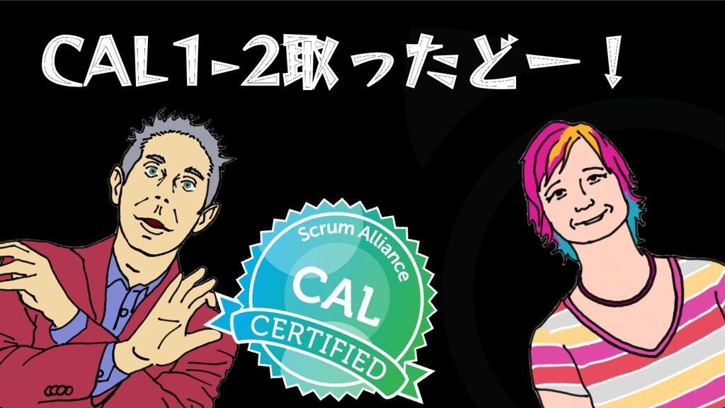 CAL1-2取ったどー!