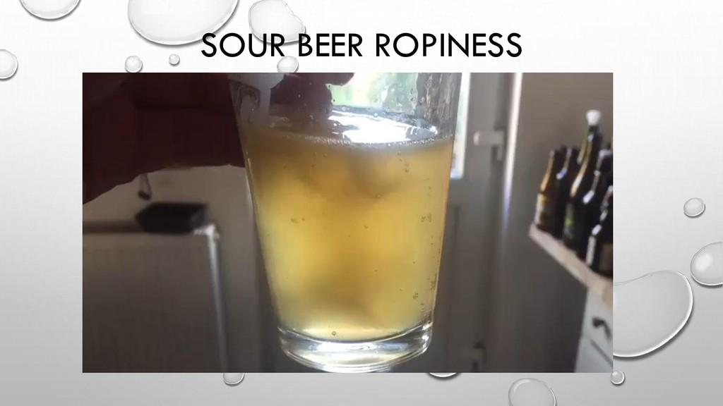 SOUR BEER ROPINESS