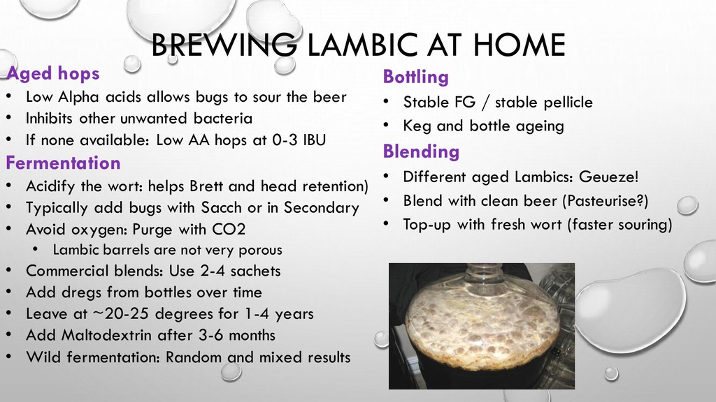 BREWING LAMBIC AT HOME Aged hops • Low Alpha ac...
