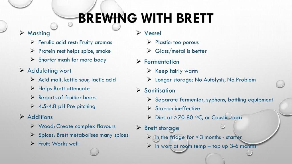 BREWING WITH BRETT Vessel ➢ Plastic: too porous...