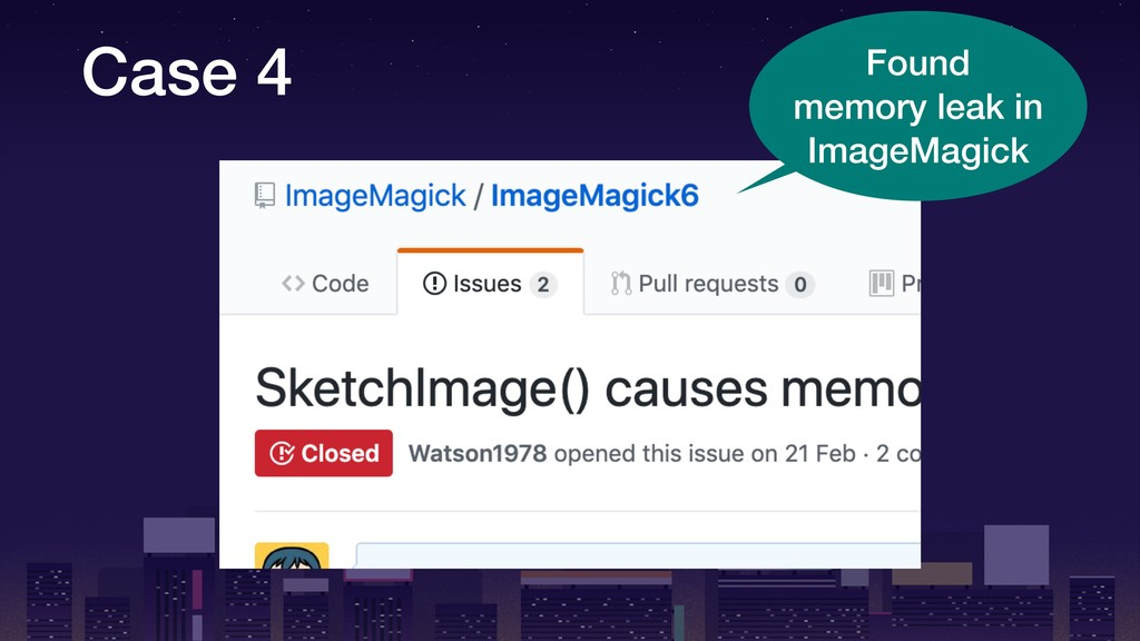Case 4 Found memory leak in ImageMagick