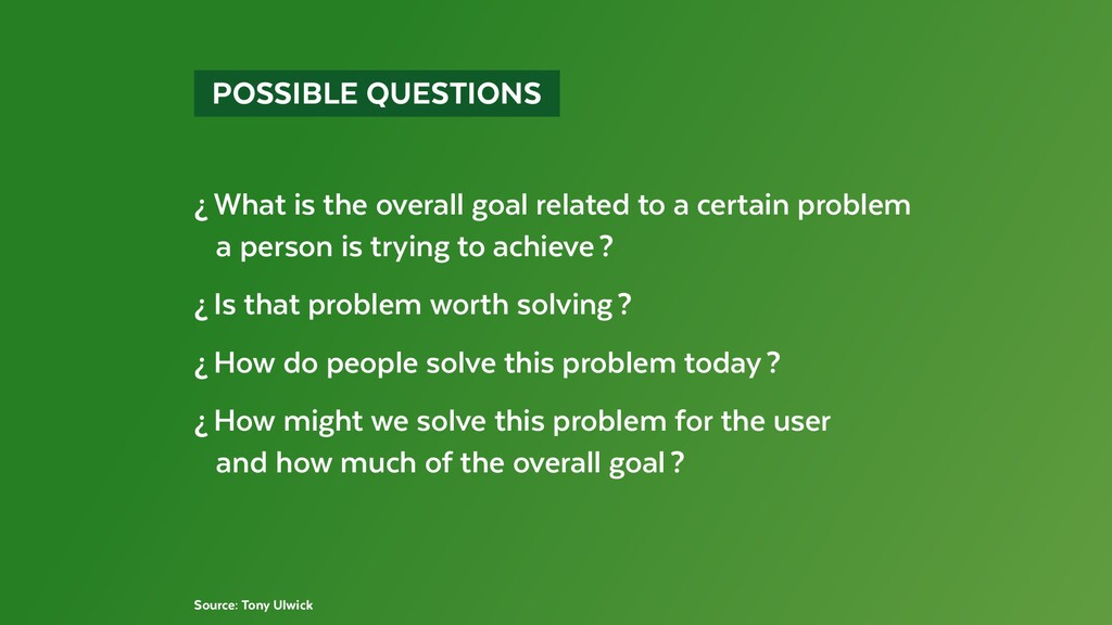 POSSIBLE QUESTIONS ¿What is the overall goa...