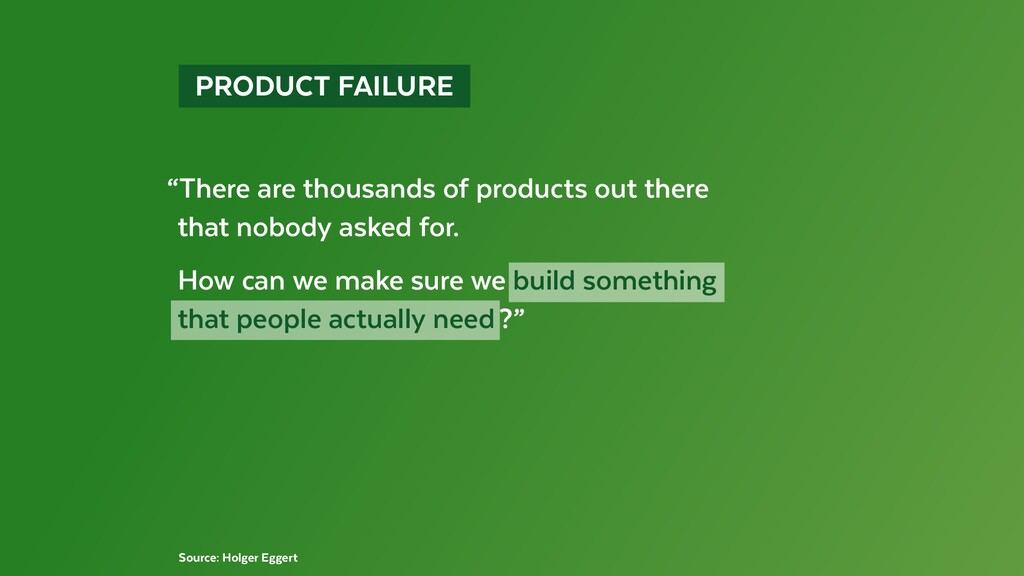 """PRODUCT FAILURE """"There are thousands of prod..."""