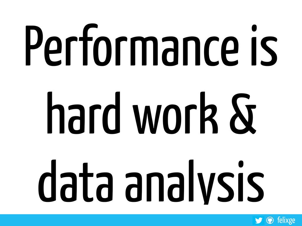 felixge Performance is hard work & data analysis