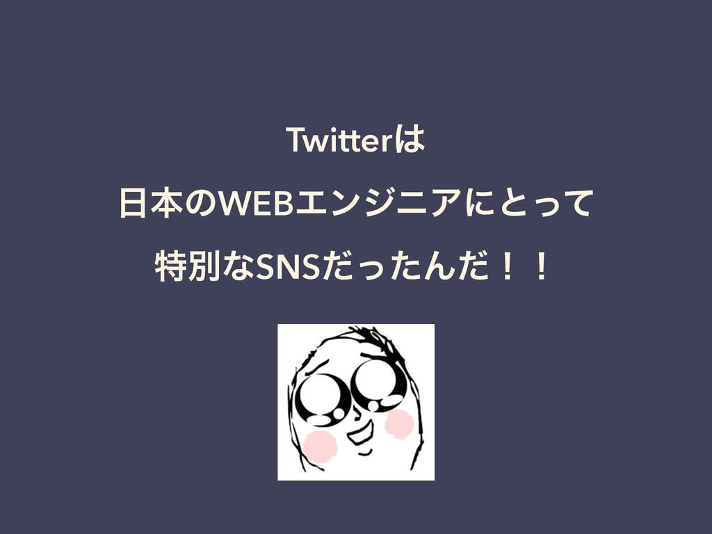 Twitter ຊͷWEBΤϯδχΞʹͱͬͯ ಛผͳSNSͩͬͨΜͩʂʂ