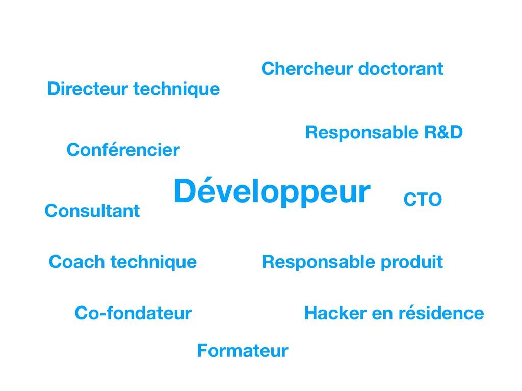 Développeur Responsable R&D Consultant Co-fonda...