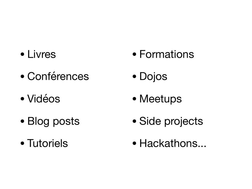 •Livres  •Conférences  •Vidéos  •Blog posts  •T...