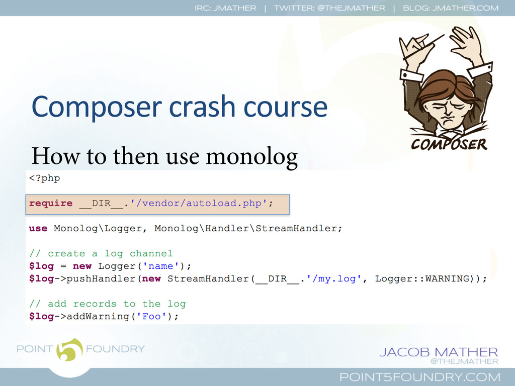 Composer crash course  How to then use...
