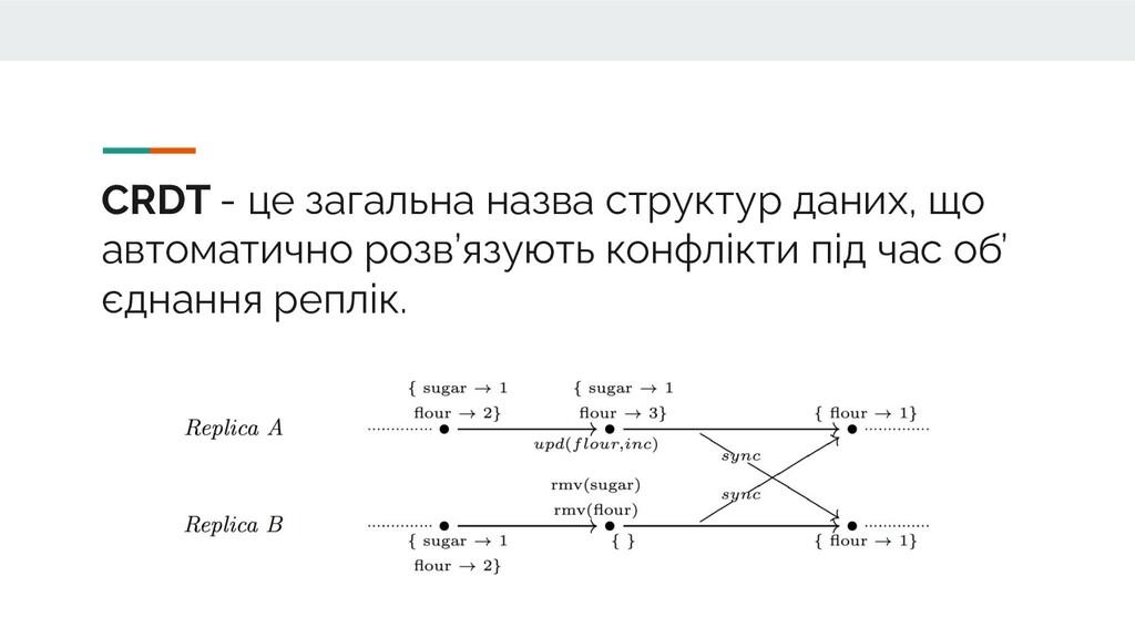 CRDT - це загальна назва структур даних, що авт...