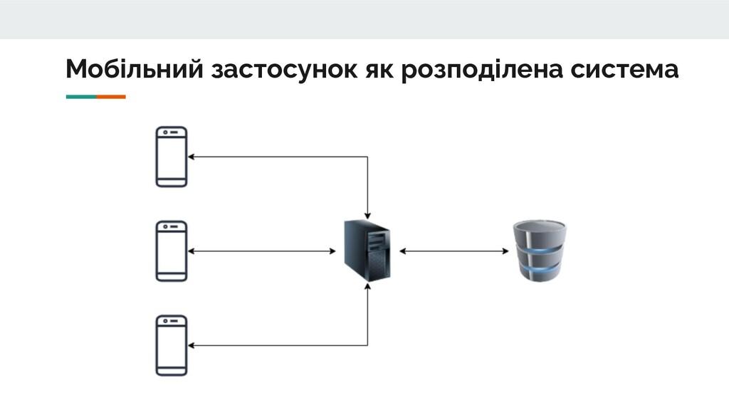 Мобільний застосунок як розподілена система