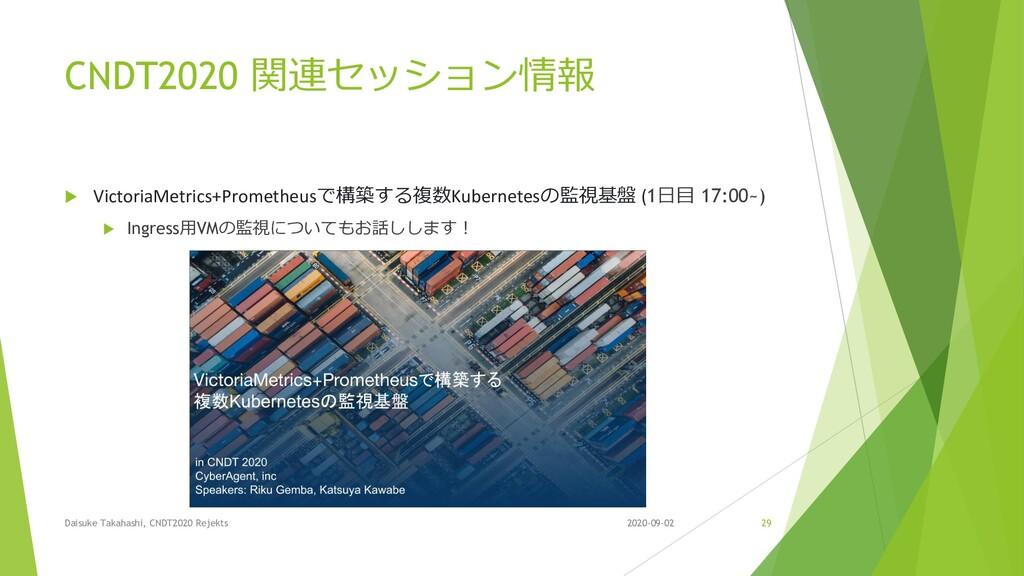 CNDT2020 関連セッション情報  VictoriaMetrics+Prometheus...