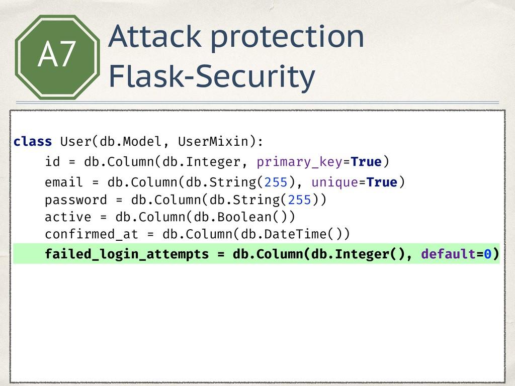 A7  class User(db.Model, UserMixin): id = db....