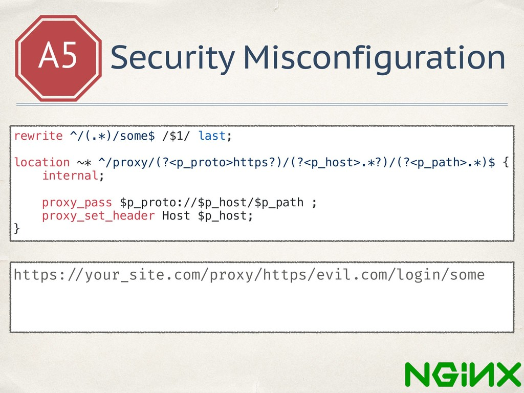 A5 Security Misconfiguration https: //your_site...