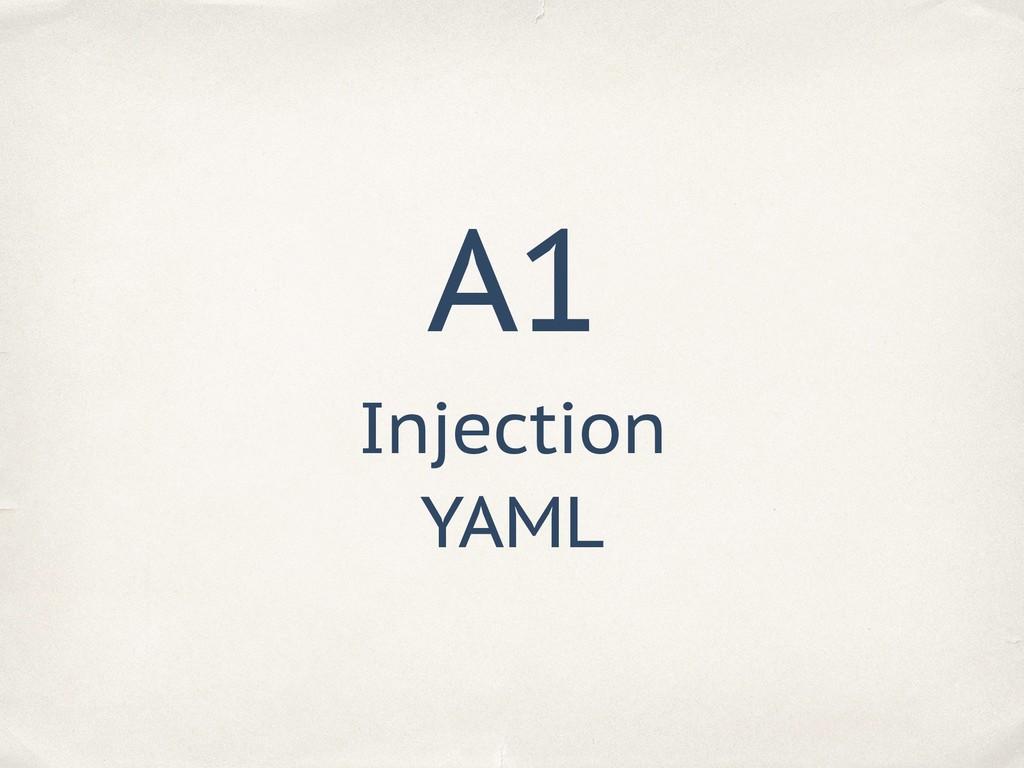A1 Injection YAML