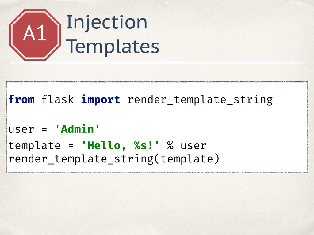 Injection Templates A1 from flask import render...