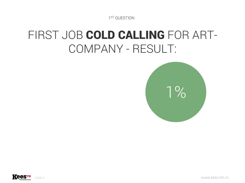 FIRST JOB COLD CALLING FOR ART- COMPANY - RESUL...