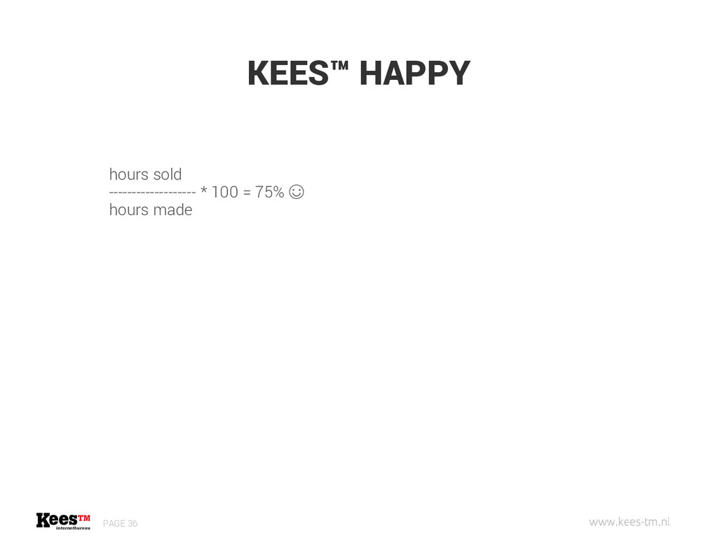 KEES™ HAPPY PAGE 36 hours sold ----------------...