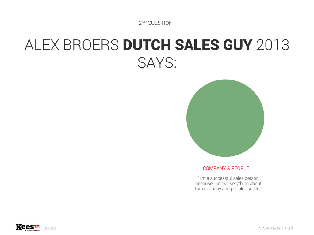 ALEX BROERS DUTCH SALES GUY 2013 SAYS: PAGE 5 C...