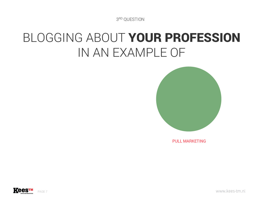 BLOGGING ABOUT YOUR PROFESSION IN AN EXAMPLE OF...