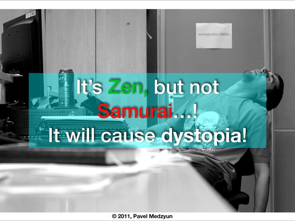 © 2011, Pavel Medzyun It's Zen, but not Samurai...