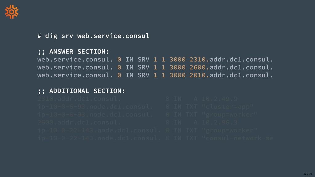 web.service.consul. 0 IN SRV 1 1 3000 2310.addr...