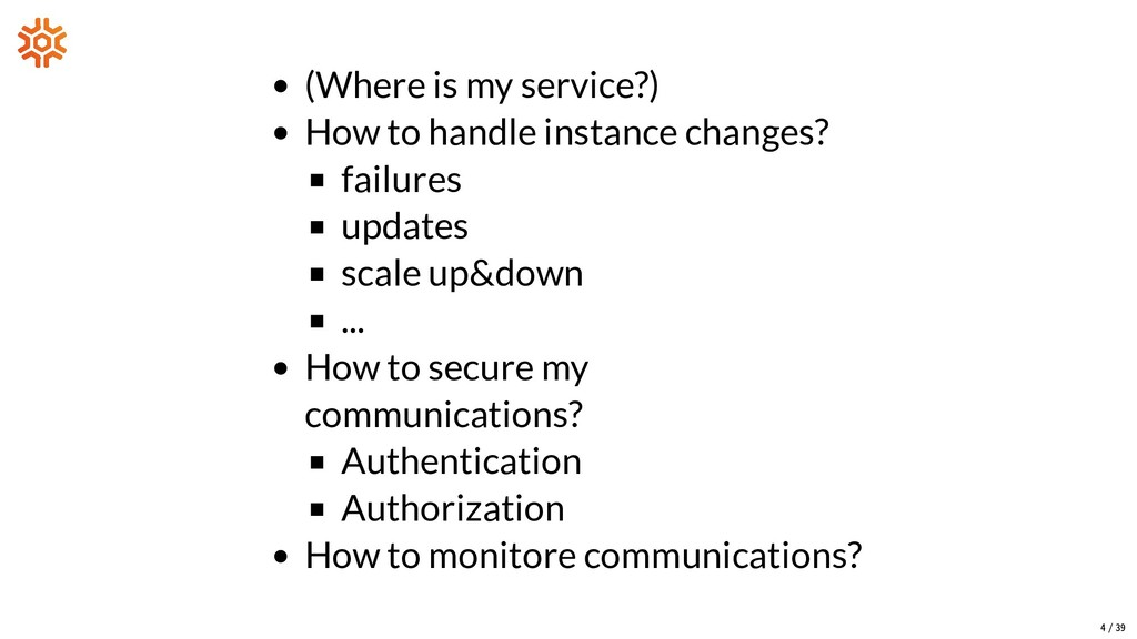 (Where is my service?) How to handle instance c...