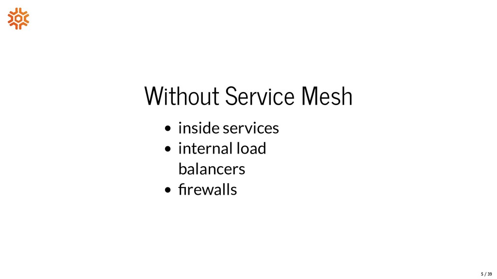 Without Service Mesh inside services internal l...