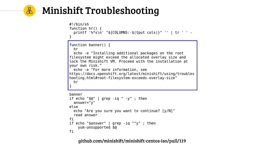 Minishift Troubleshooting github.com/minishift/...