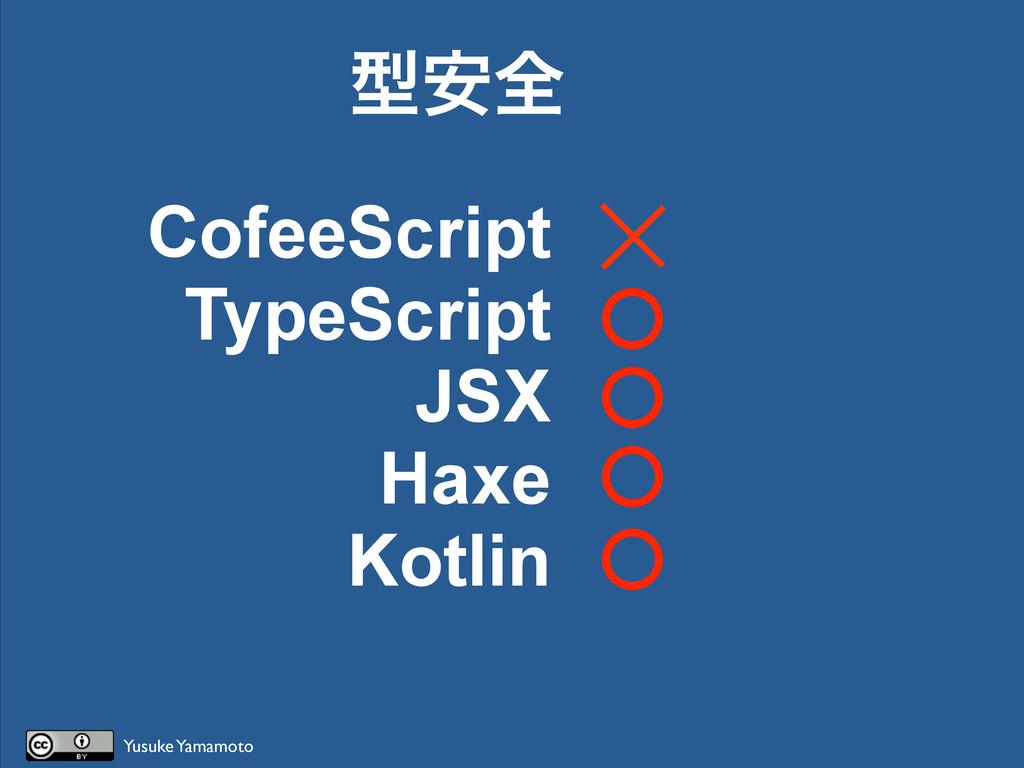 CofeeScript TypeScript JSX Haxe Kotlin ܕ҆શ Yusu...