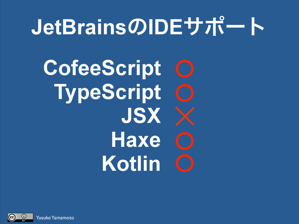 CofeeScript TypeScript JSX Haxe Kotlin JetBrain...