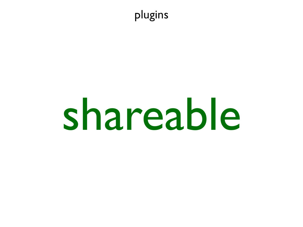 plugins shareable