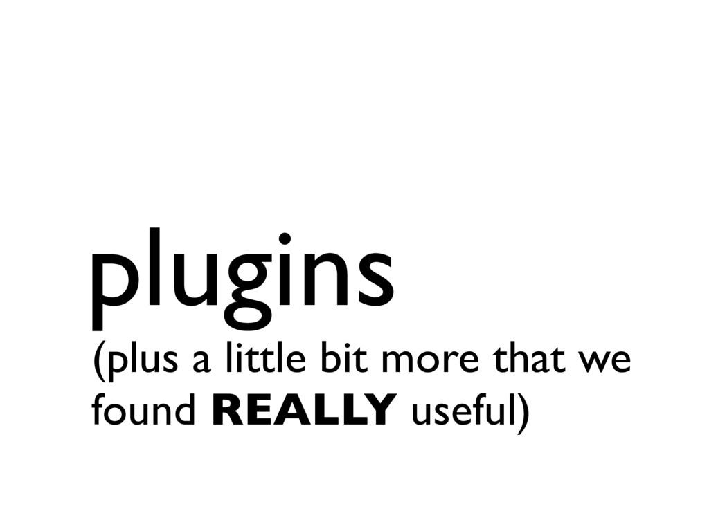 plugins.succ (plus a little bit more that we fo...