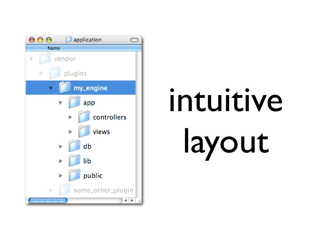 intuitive layout