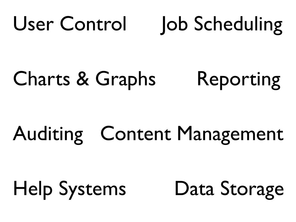 User Control Auditing Reporting Job Scheduling ...