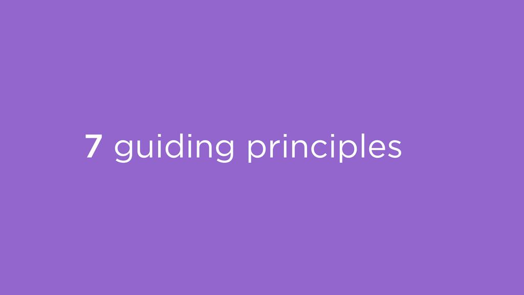 7 guiding principles