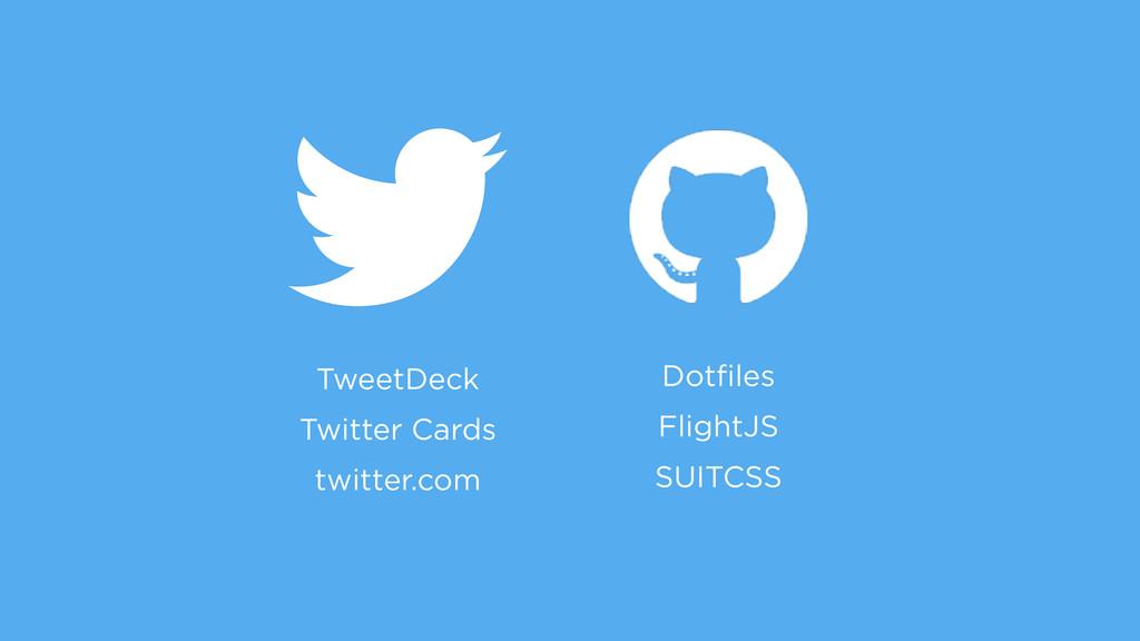 TweetDeck Twitter Cards twitter.com Dotfiles Fli...